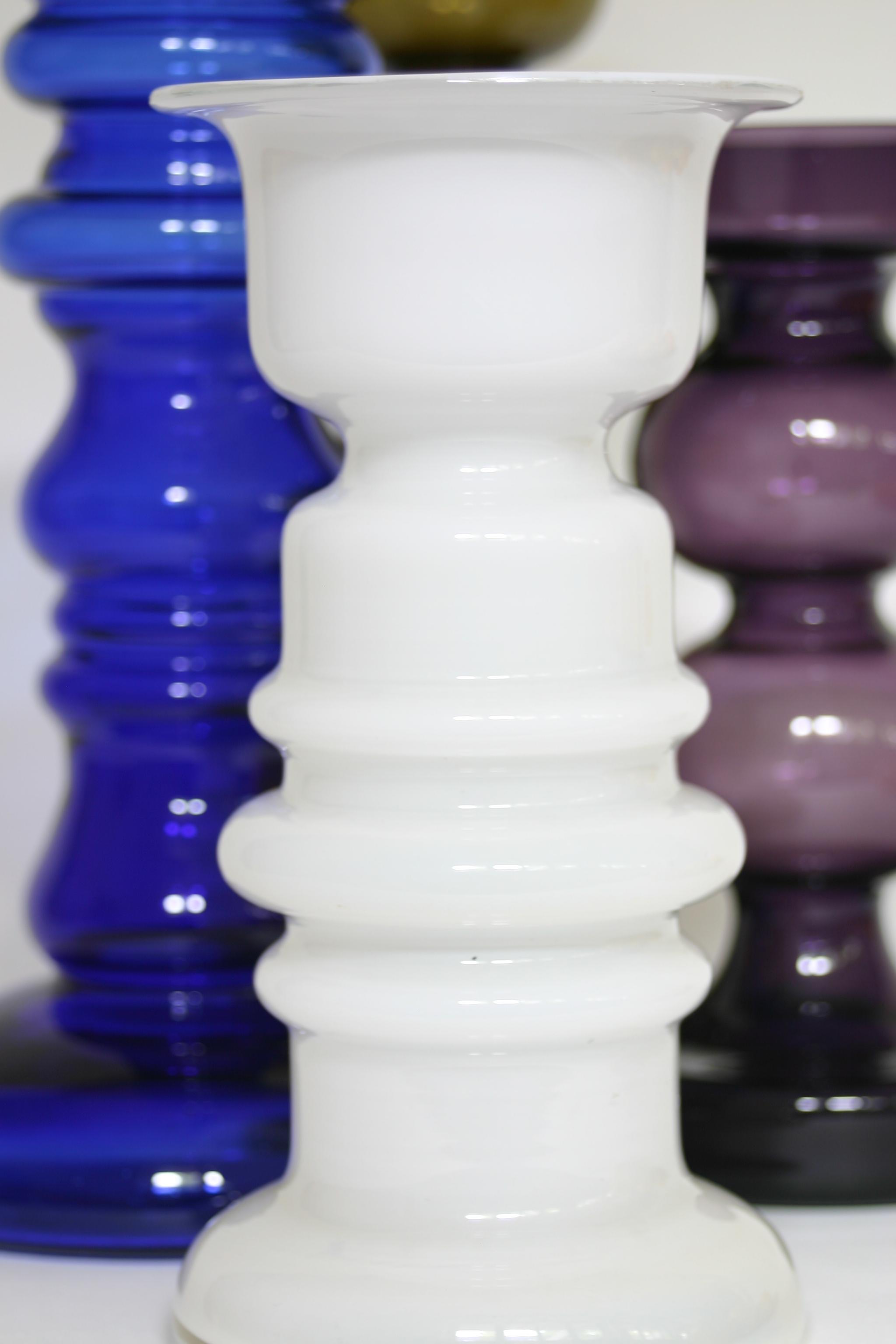Ingrid glass white vase