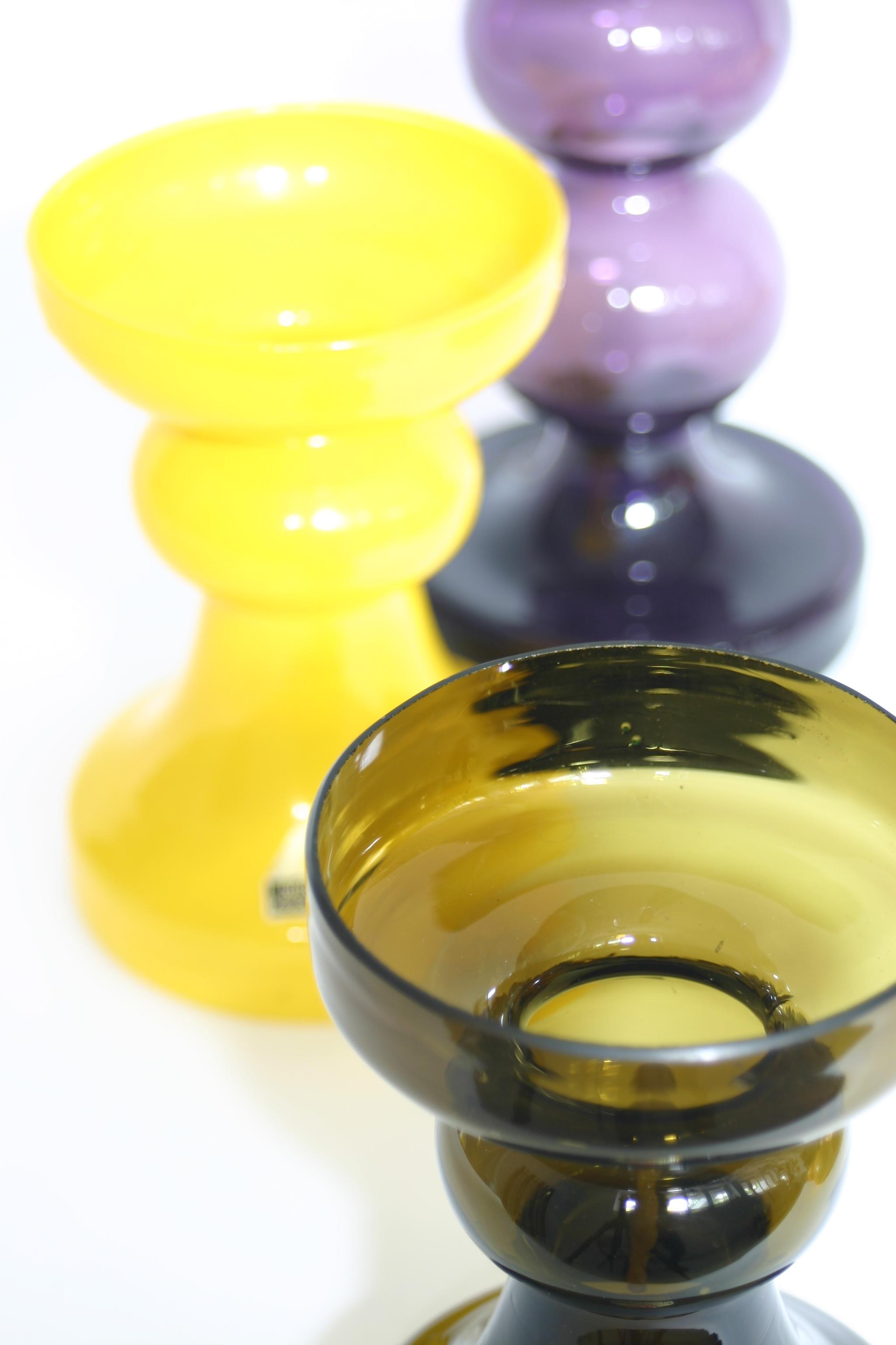 Ingrid glass yellow candlestick