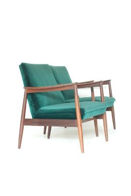 Green Velvet Armchairs