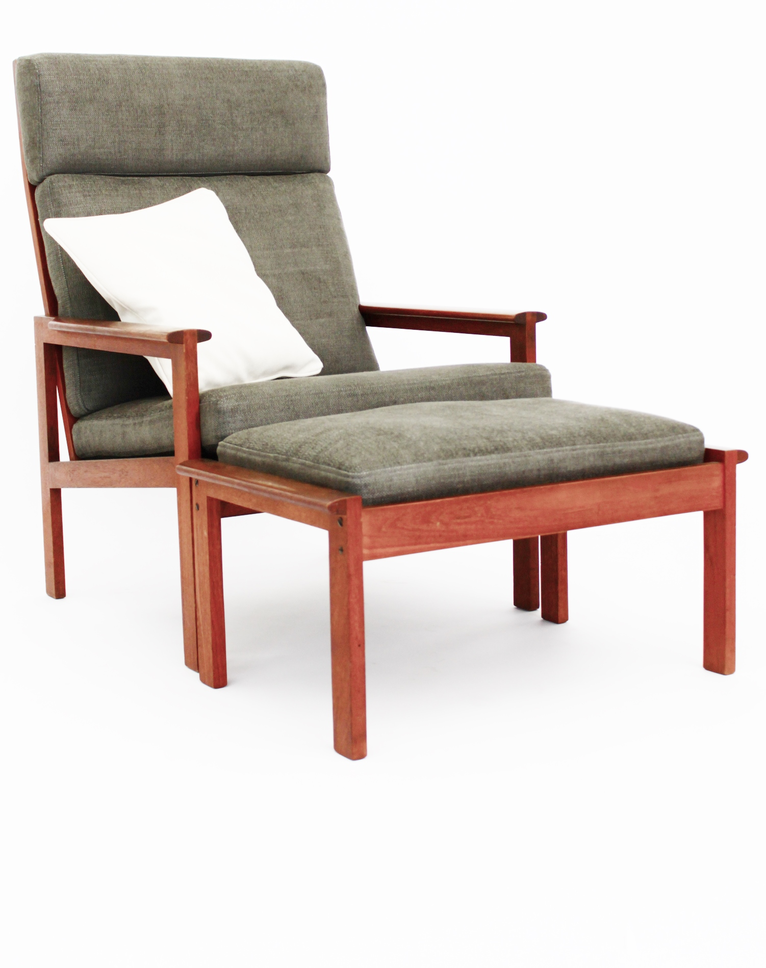 High Back Chair and Foot Stool