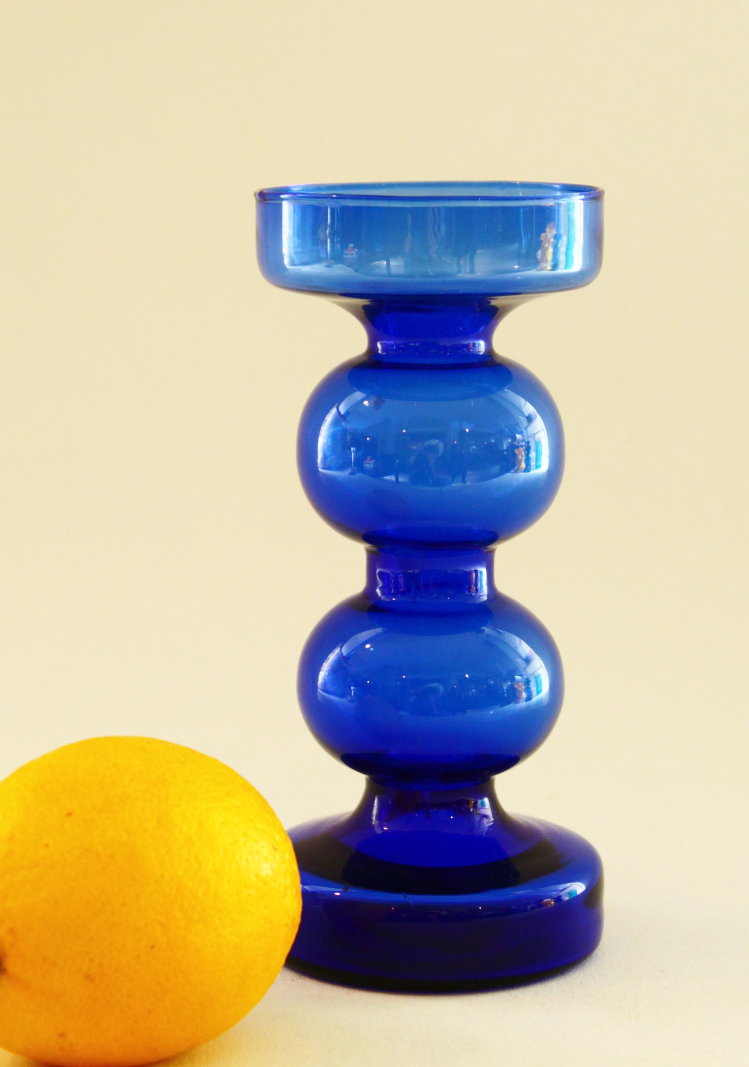 Blue Candlestick Holder