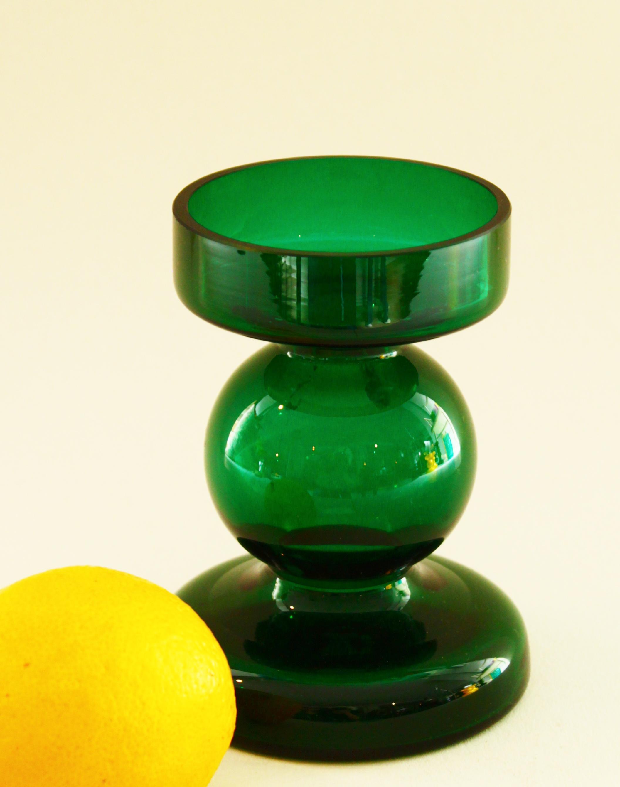 Green Candlestick Holder