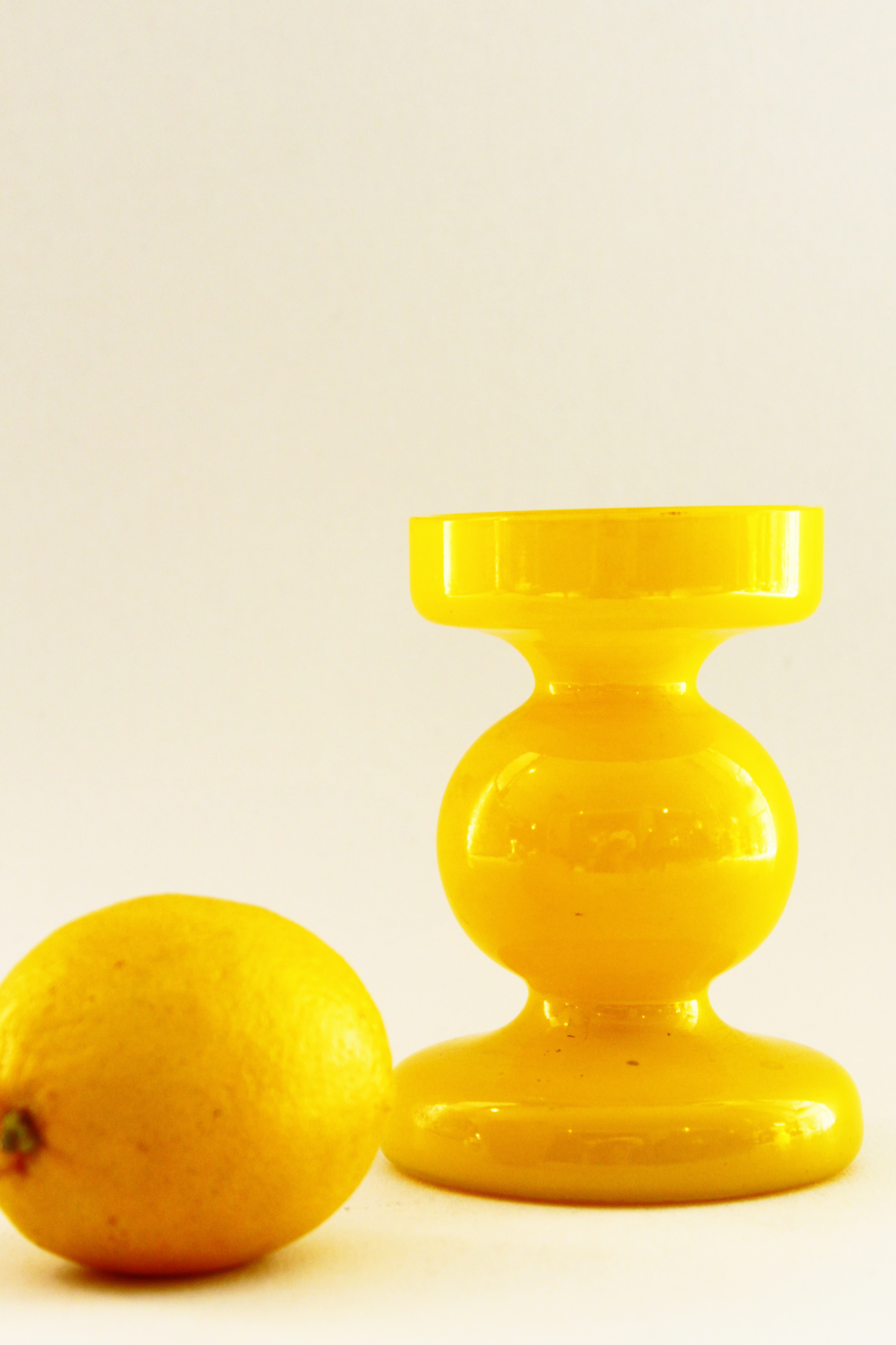 Yellow Candlestick Holder