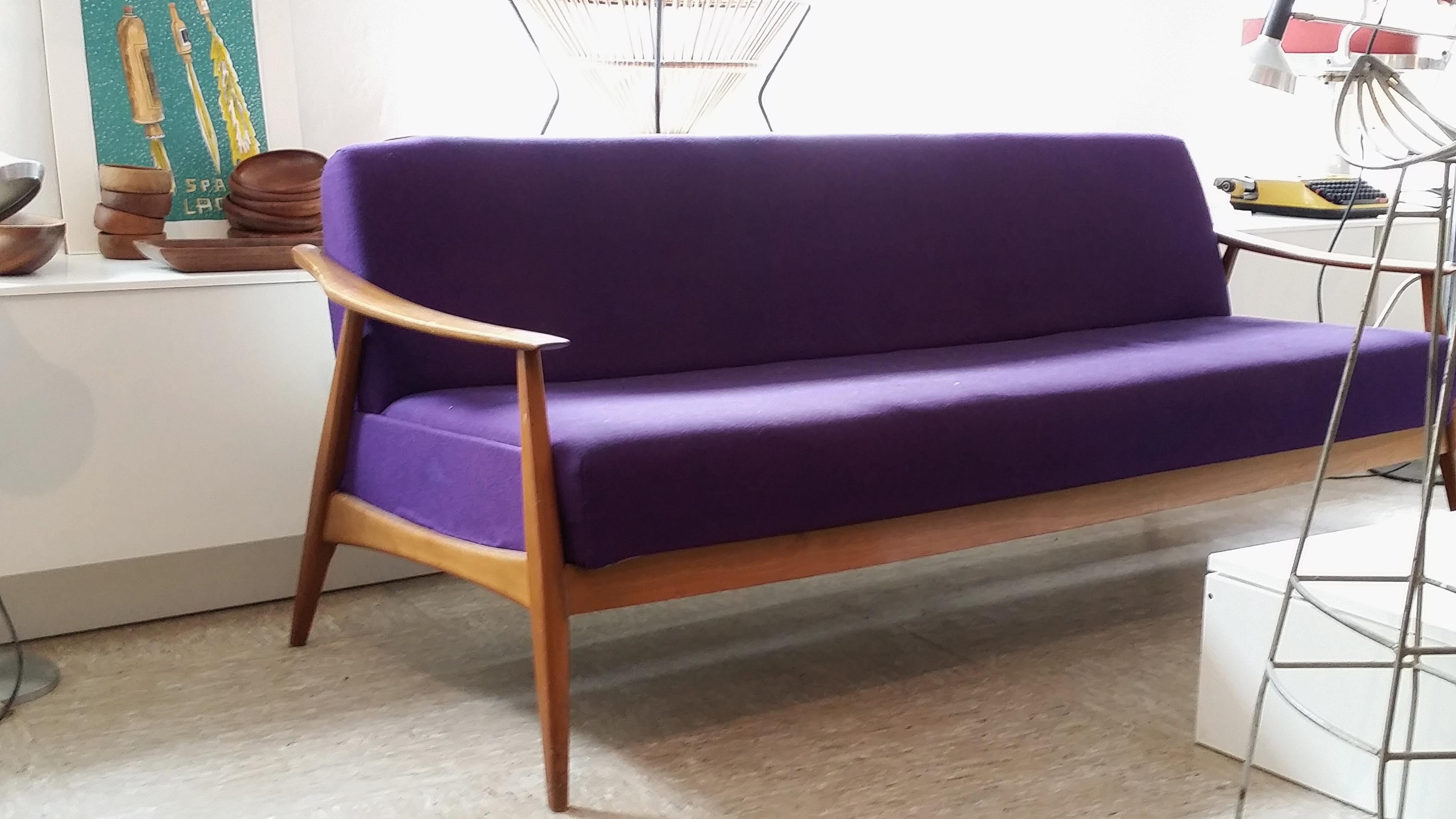 Purple Sixties sofa