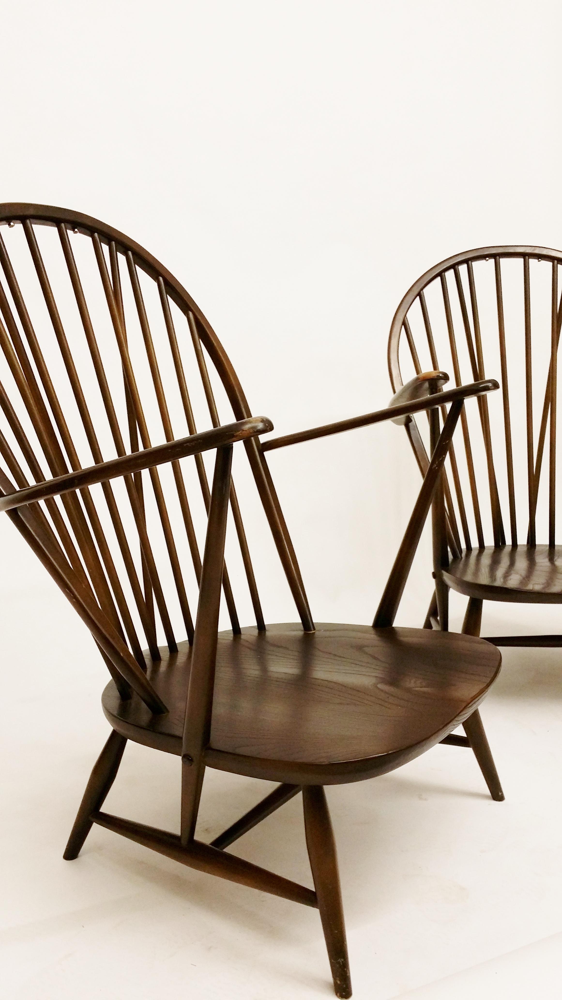 Ercol  high back windsor arm chair