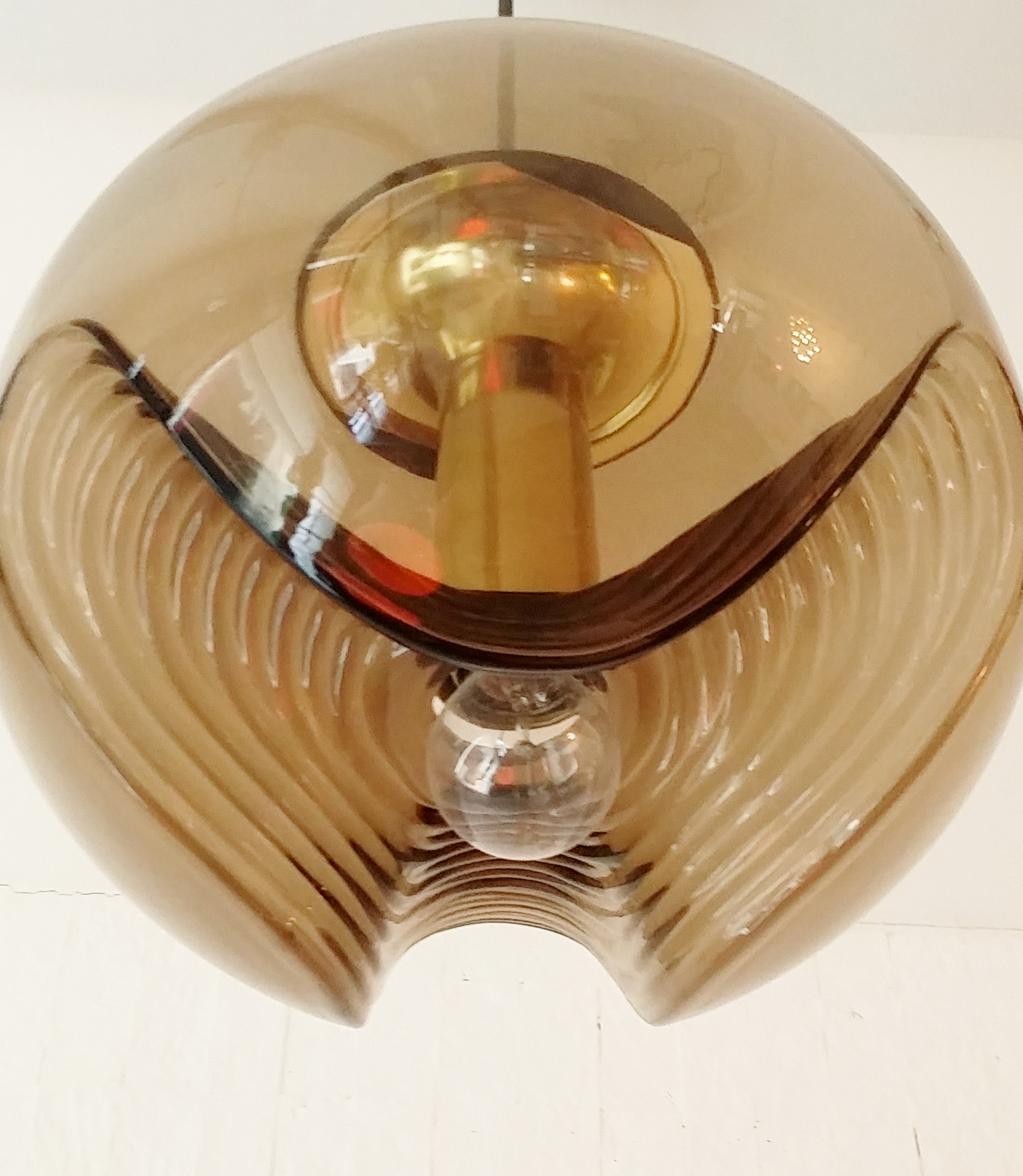 Molded Glass ceiling Lamp 1970