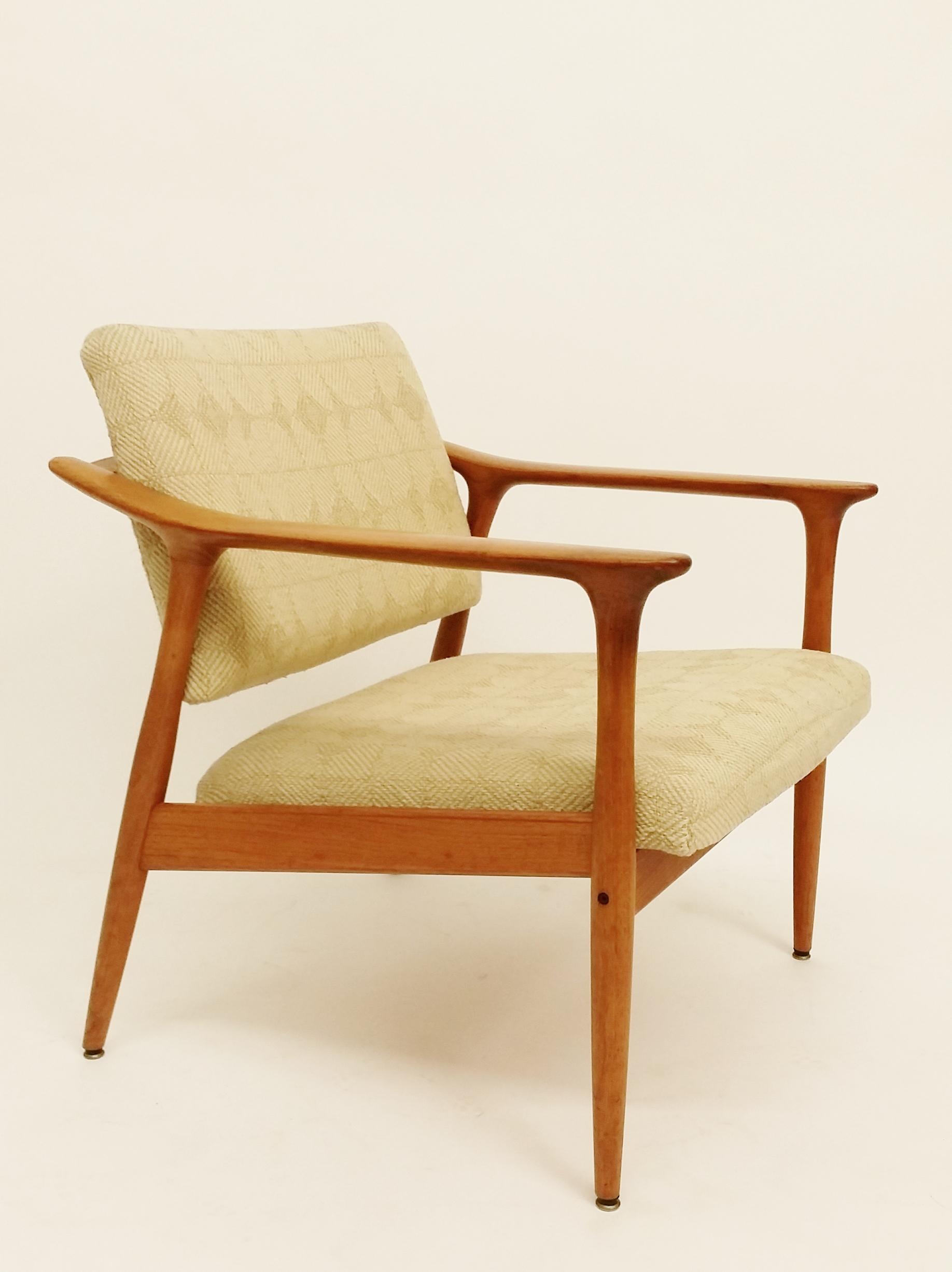 Fredrik Kayser teak armchair