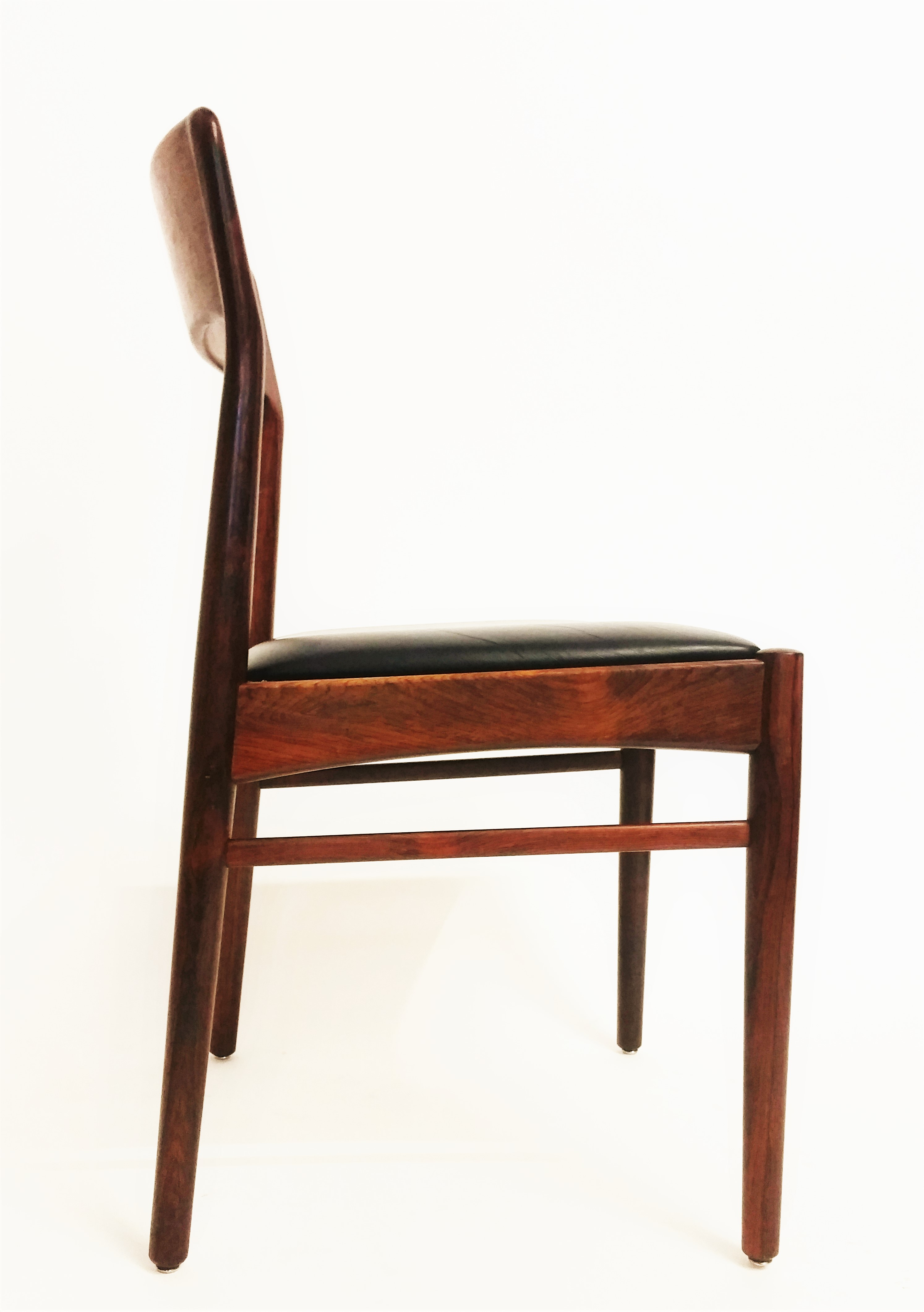 KS  Korup Stolefabrik rose wood dining chairs
