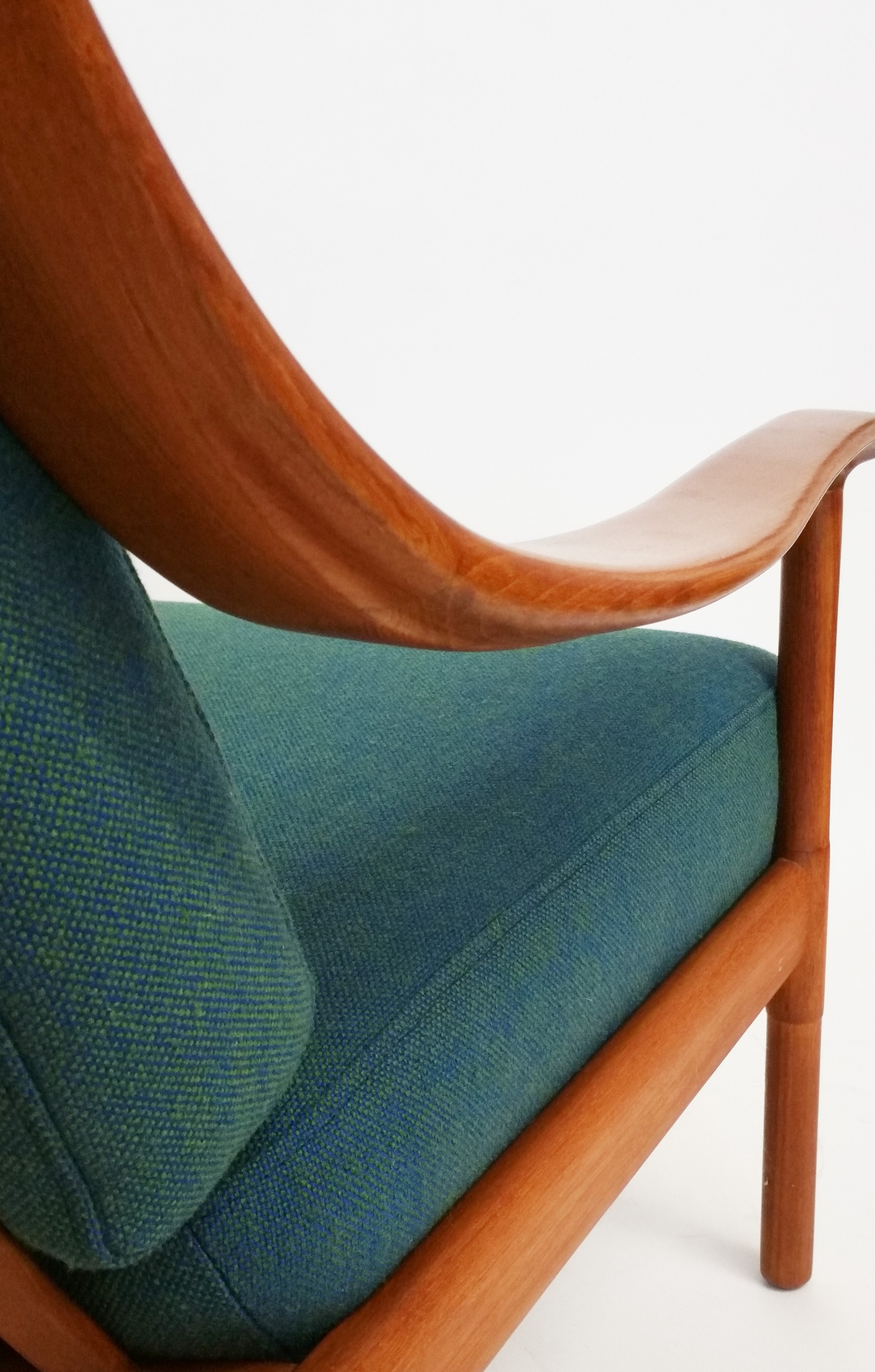 Walter Knoll high back teak lounge chair