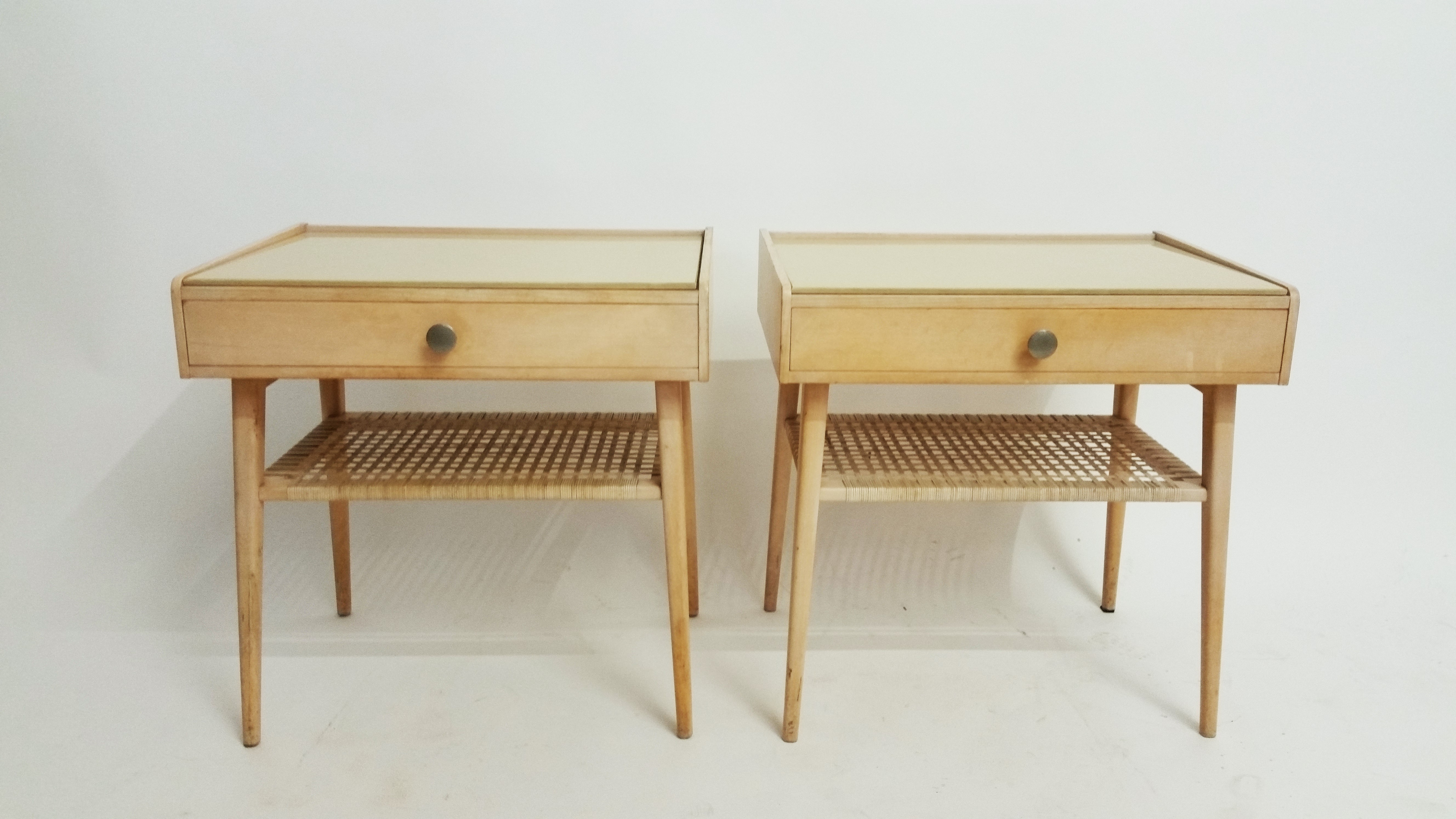 Late fifties bedside tables