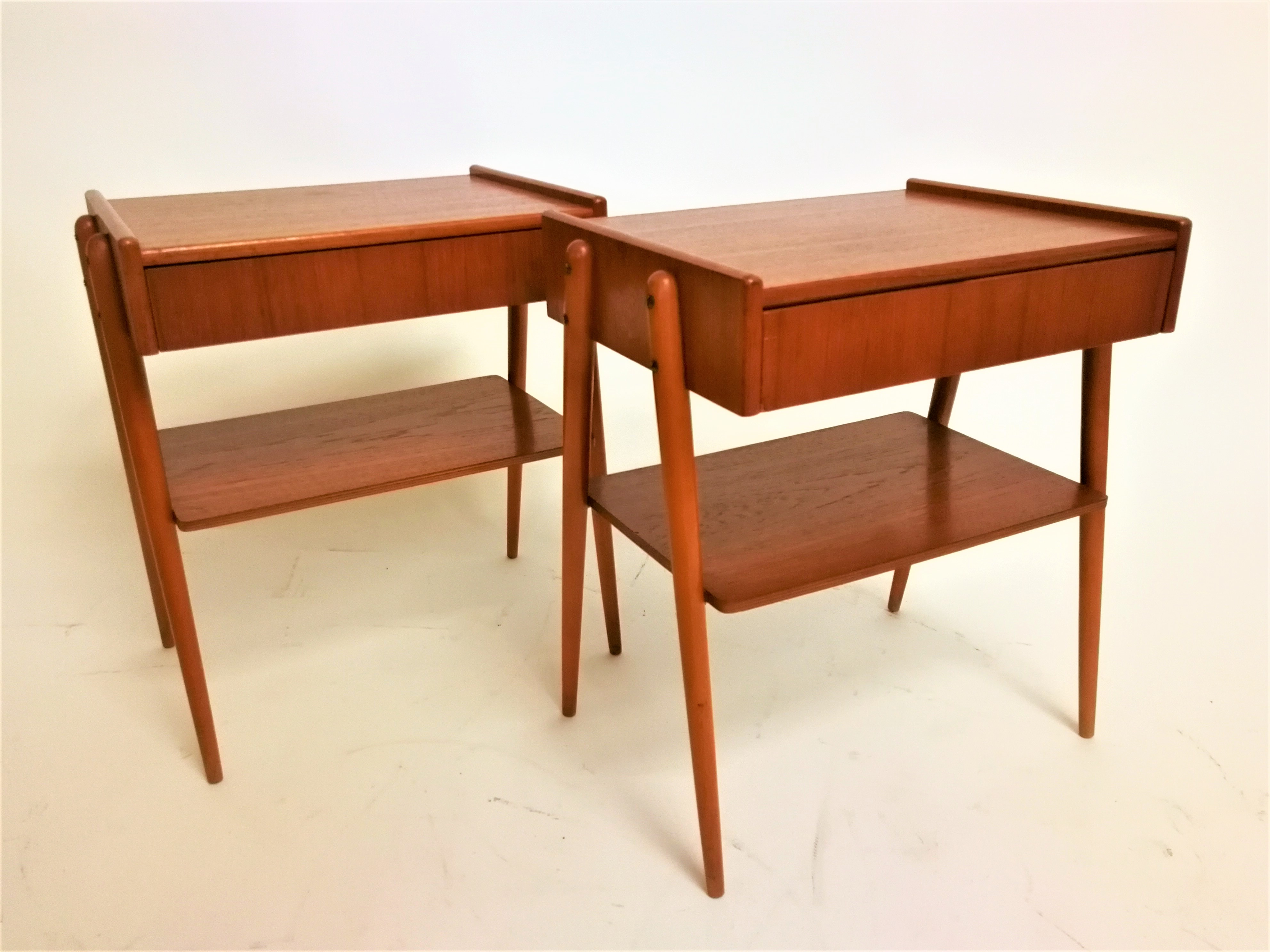 Pair of Danish bedside tables