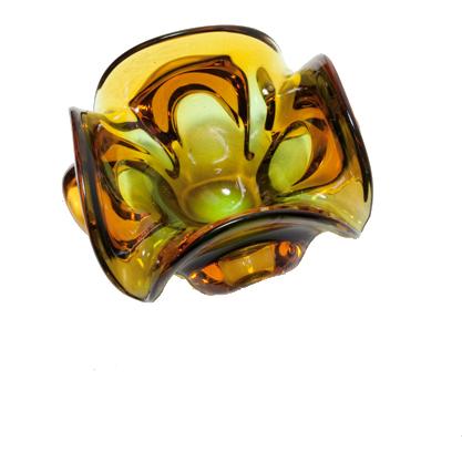 Glass ashtray 70`s